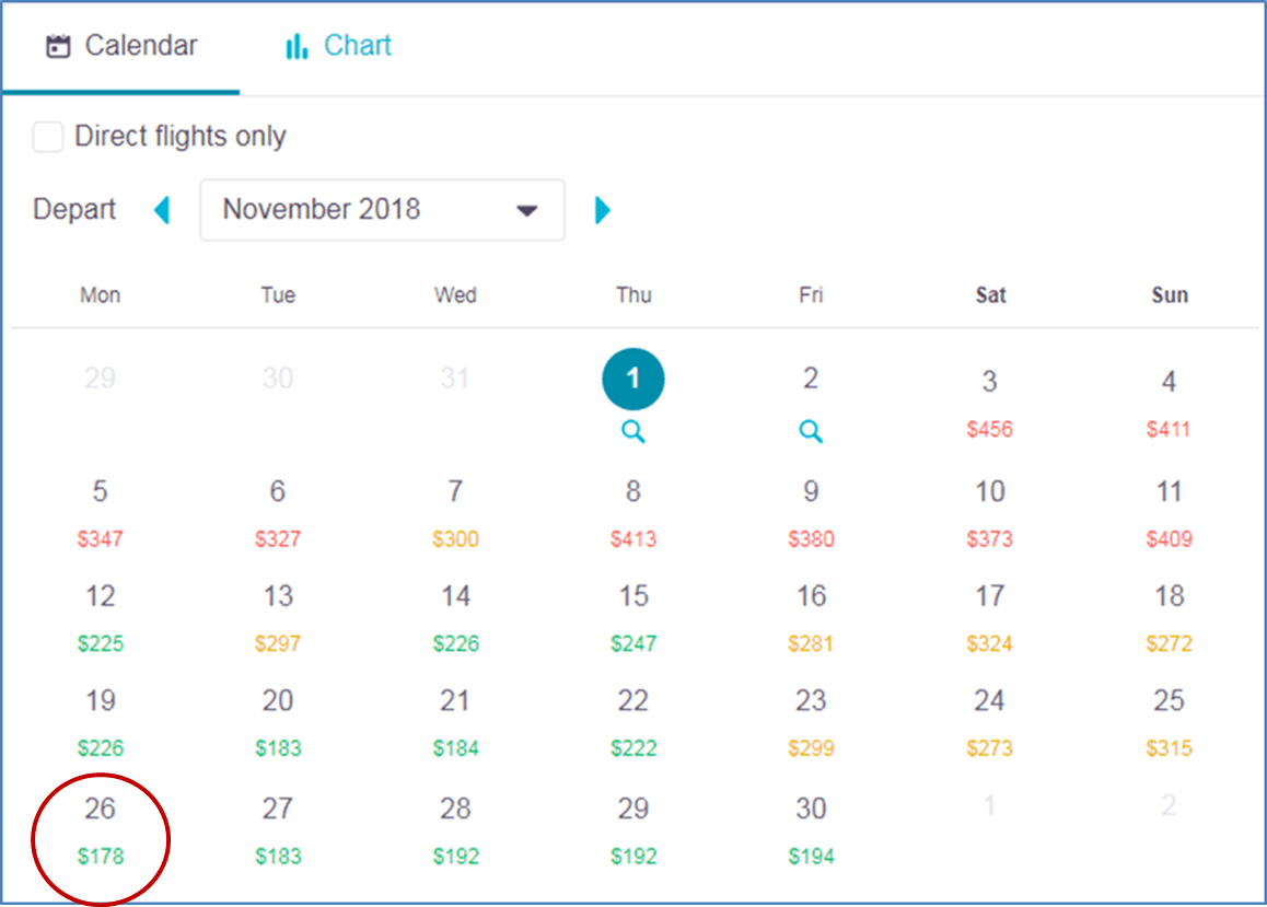 screenshot of skyscanner webpage showing whole month cheap flight tickets search