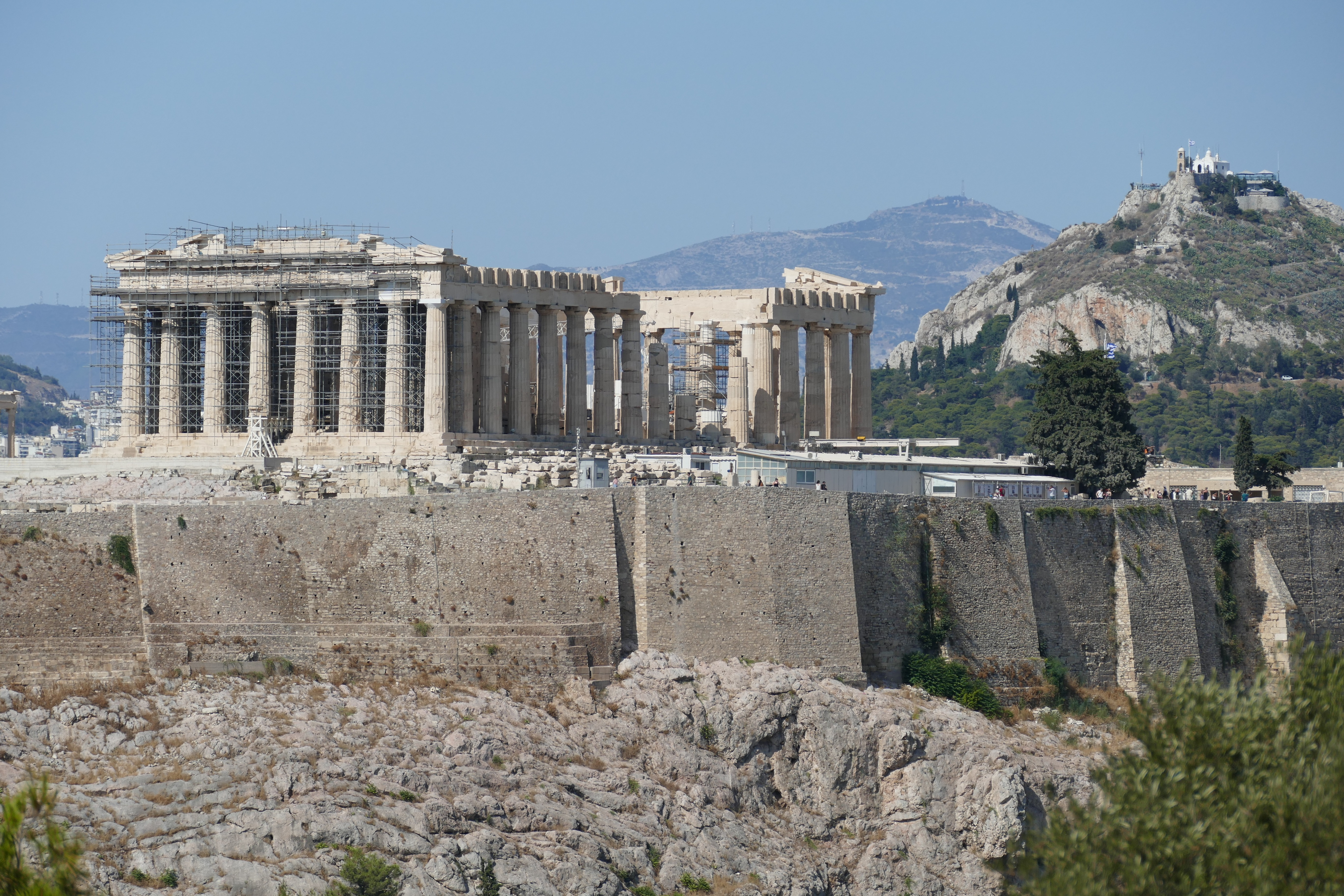 view of the acropolis taken from philopappos monument