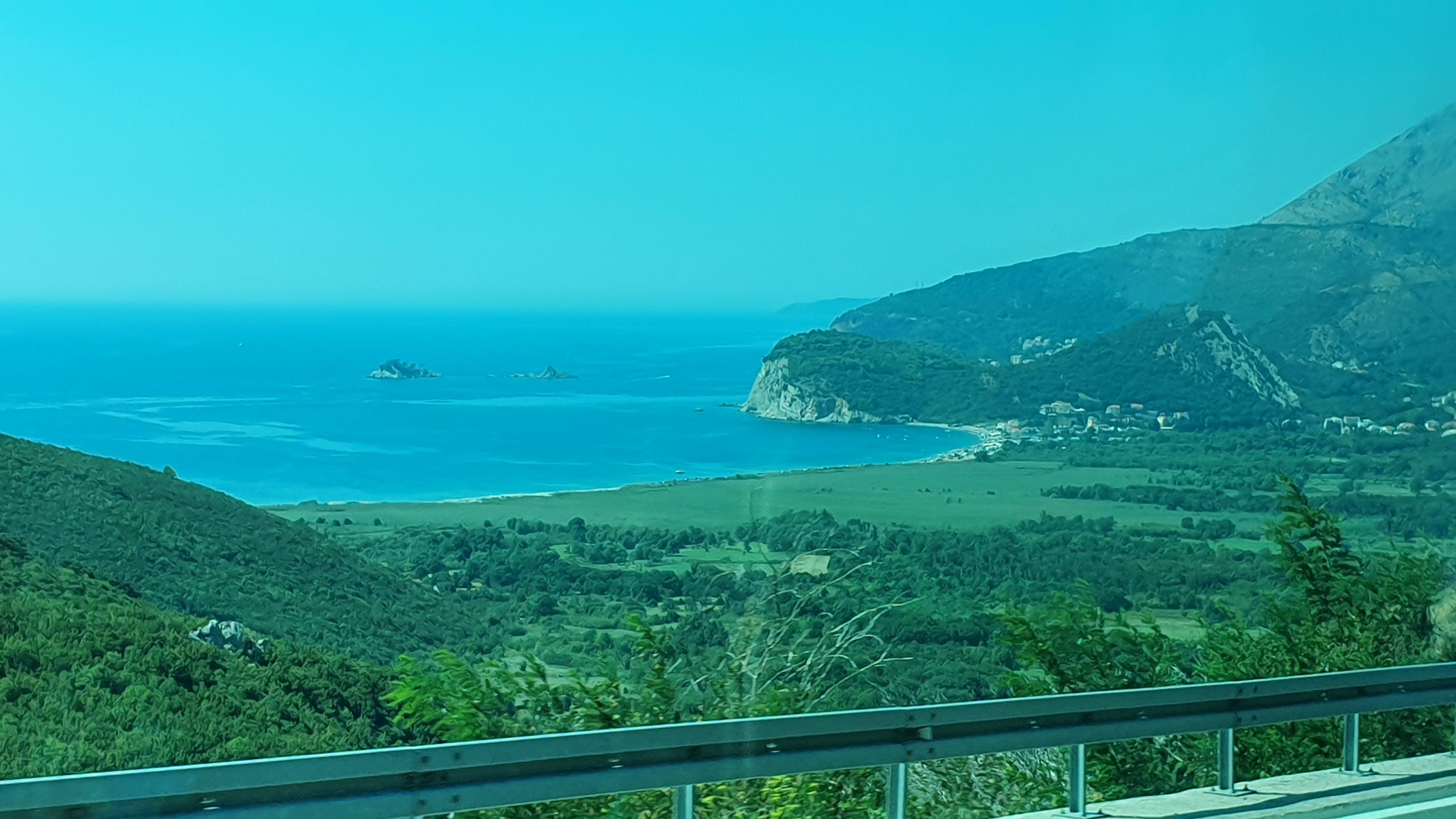 panoramic view of sutamore beach from the highway