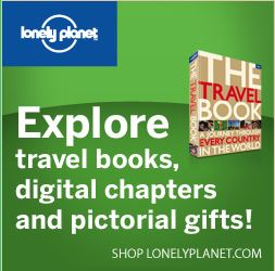 Lonely planet logo on a green background