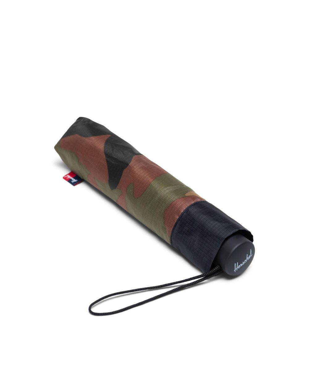 travel gift idea of closed compact umbrella in army colours