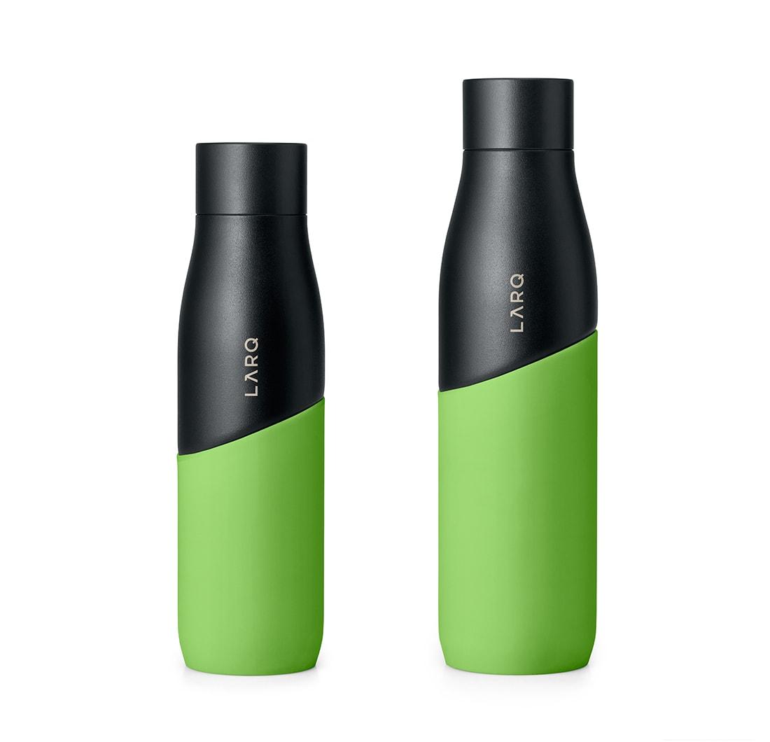 Larq water bottle in green/black - two sizes