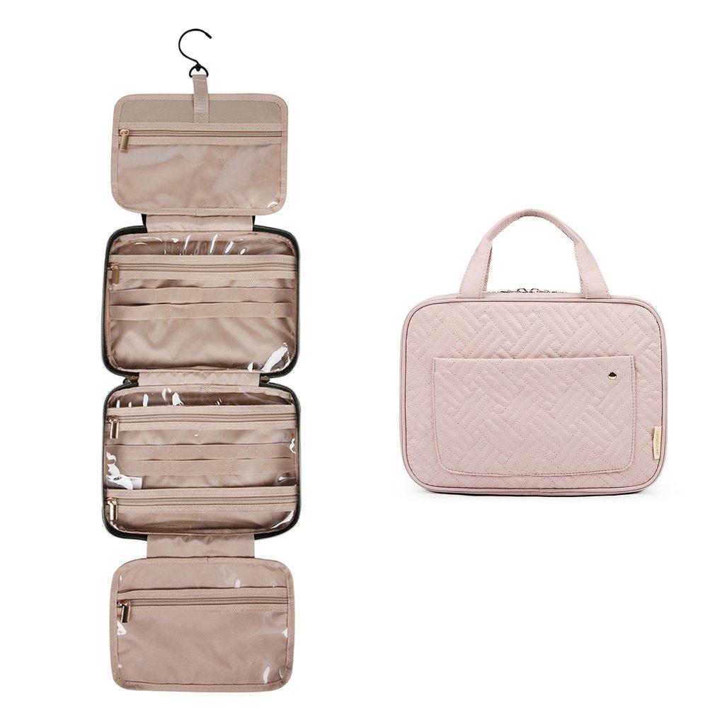 BAGSMART travel toiletry bag in beige