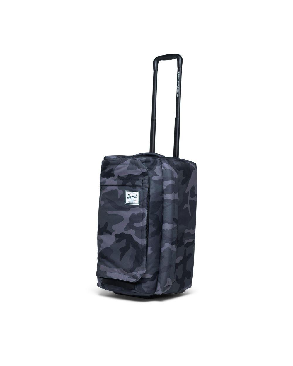 OUtlander wheelie suitcase in blue/grey print