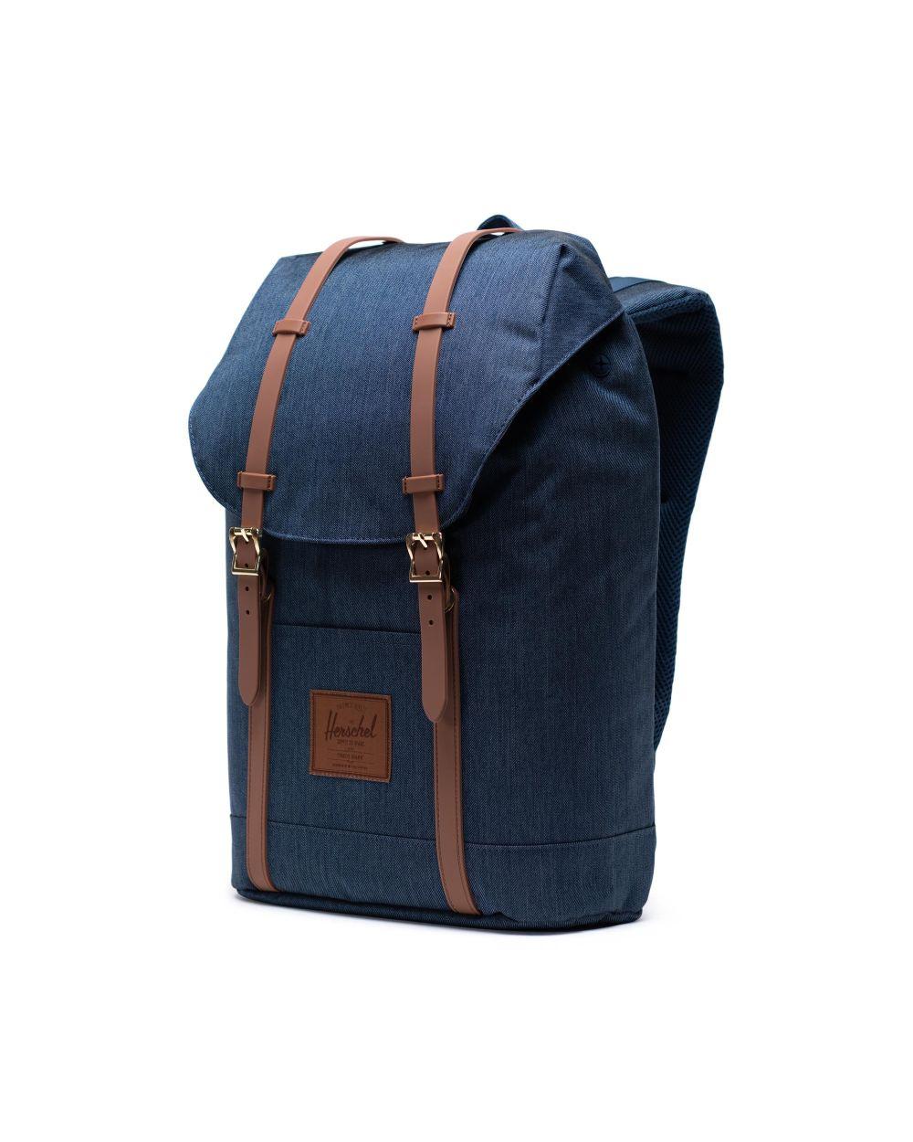 Herschel retreat bag in blue and tan