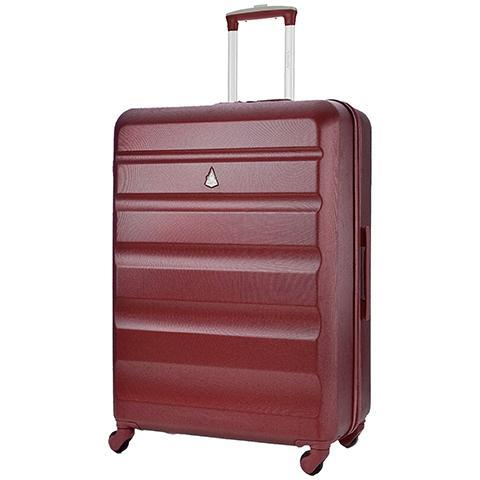 Aerolite lightweight hard shell large suitcase in wine colour