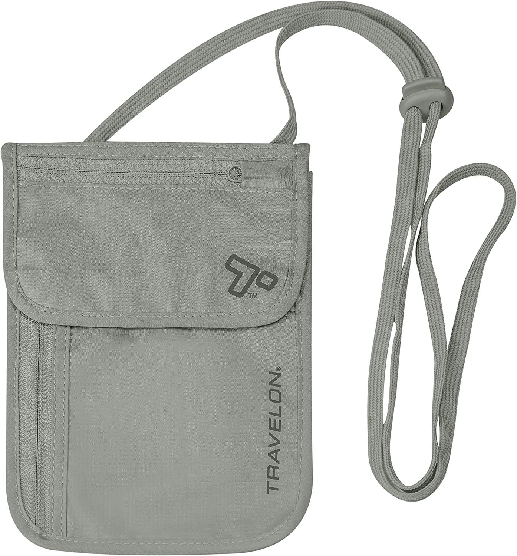 Travelon neck pouch in beige